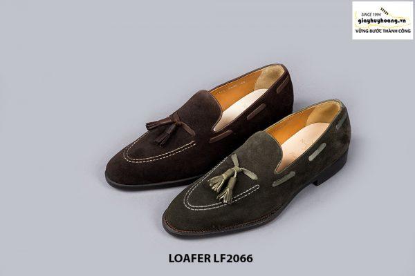 Giày lười nam da lộn phong cách Tassel Loafer LF2066 001