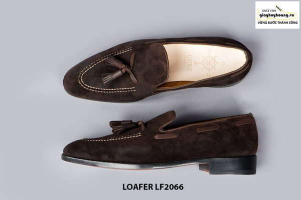 Giày lười nam da lộn phong cách Tassel Loafer LF2066 005