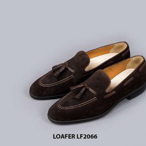 Giày lười nam da lộn phong cách Tassel Loafer LF2066 004