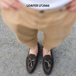 Giày lười nam da lộn phong cách Tassel Loafer LF2066 002