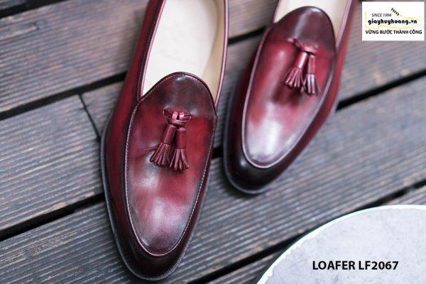 Giày lười nam chuông màu đỏ đô Tassel Loafer LF2067 005