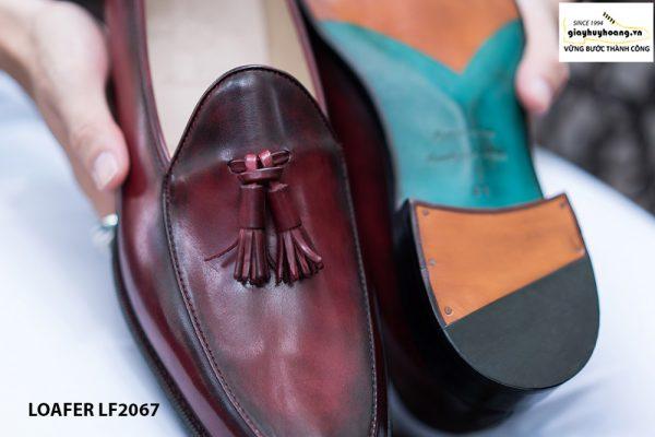 Giày lười nam chuông màu đỏ đô Tassel Loafer LF2067 003