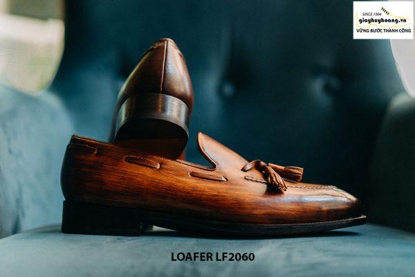 Giày lười nam có chuông đánh màu Patina Tassel Loafer LF2060 004