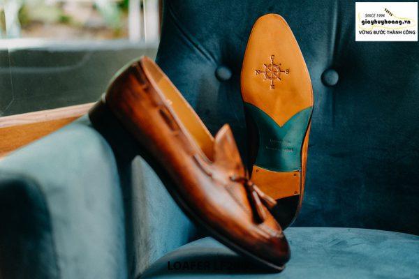 Giày lười nam có chuông đánh màu Patina Tassel Loafer LF2060 003