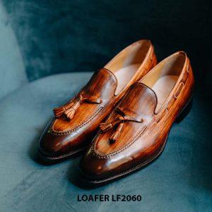Giày lười nam có chuông đánh màu Patina Tassel Loafer LF2060 001