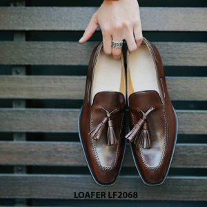 Giày lười nam hàng hiệu Tassel Loafer LF2068 001