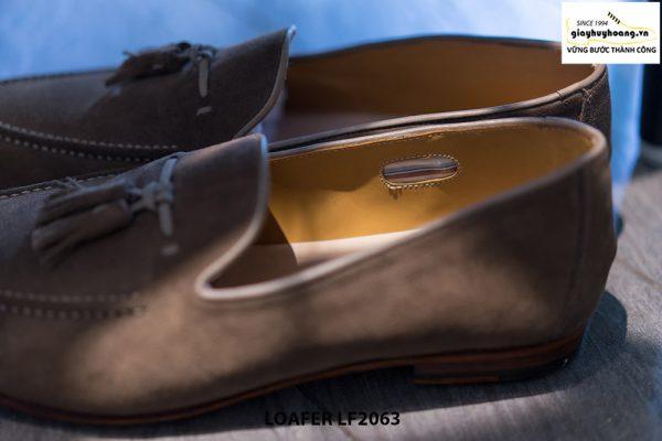 Giày lười nam da lộn mềm Tassel Loafer LF2063 005