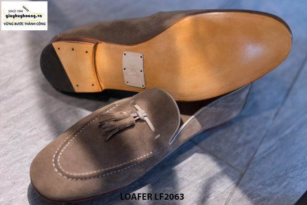 Giày lười nam da lộn mềm Tassel Loafer LF2063 004