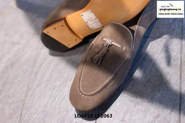 Giày lười nam da lộn mềm Tassel Loafer LF2063 003