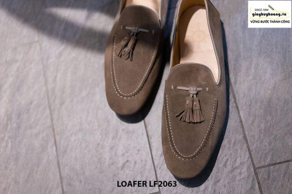 Giày lười nam da lộn mềm Tassel Loafer LF2063 001
