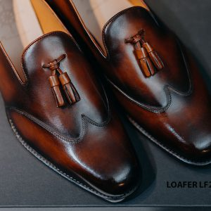 Giày da nam không dây Tassel Loafer LF2062 004