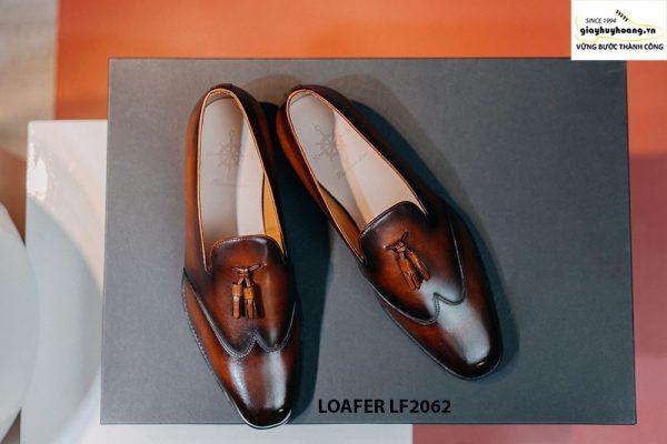 Giày da nam không dây Tassel Loafer LF2062 001