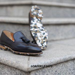 Giày lười da nam Wholecut Tassel Loafer LF2072 004