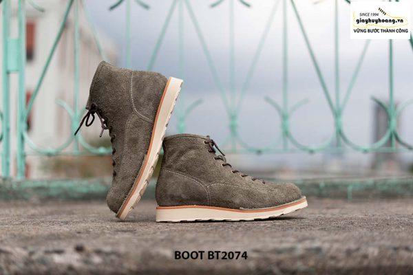 Giày Boot da lộn nam buộc dây BT2074 006