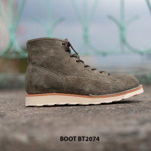 Giày Boot da lộn nam buộc dây BT2074 005