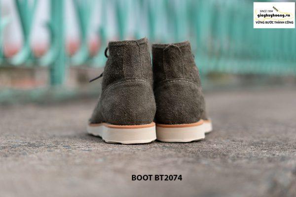 Giày Boot da lộn nam buộc dây BT2074 004