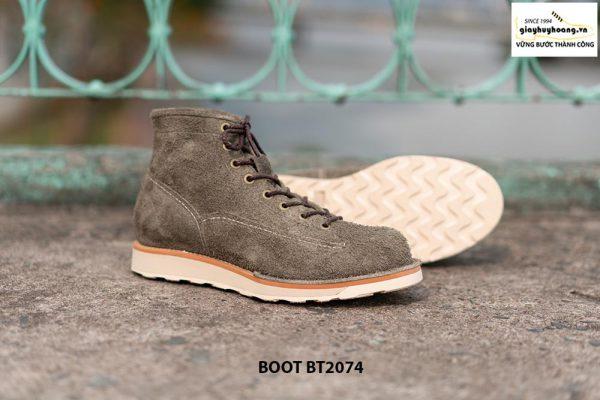 Giày Boot da lộn nam buộc dây BT2074 003