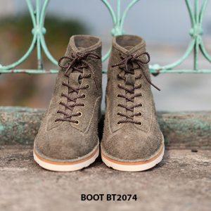 Giày Boot da lộn nam buộc dây BT2074 001