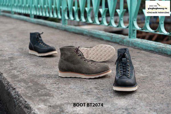 Giày Boot da lộn nam buộc dây BT2074 002