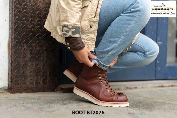 Giày da nam Boot buộc dây chính hãng BT2076 003