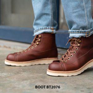 Giày da nam Boot buộc dây chính hãng BT2076 001