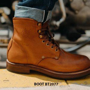 Giày tây nam Boot mũi tròn mạnh mẽ BT2077 001