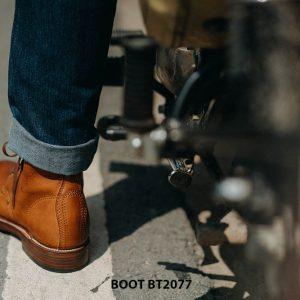 Giày tây nam Boot mũi tròn mạnh mẽ BT2077 005