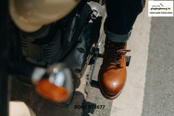 Giày tây nam Boot mũi tròn mạnh mẽ BT2077 004
