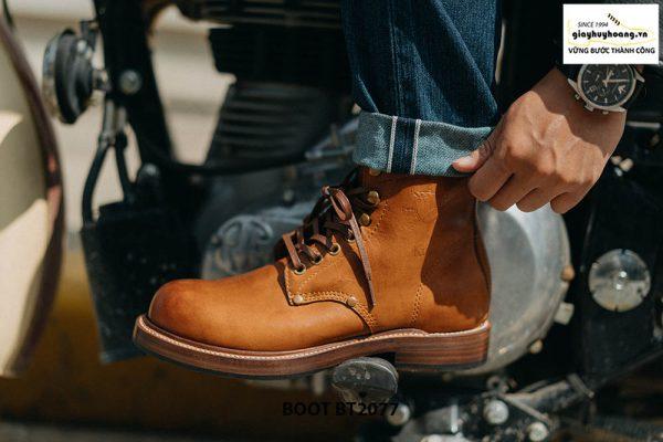 Giày tây nam Boot mũi tròn mạnh mẽ BT2077 003