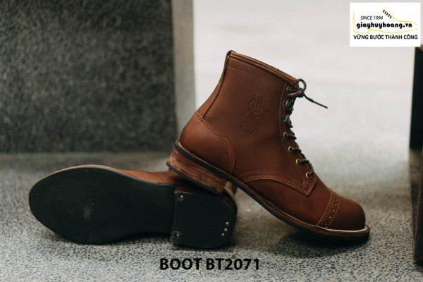 Giày da nam buộc dây cổ cao phong cách BT2071 004