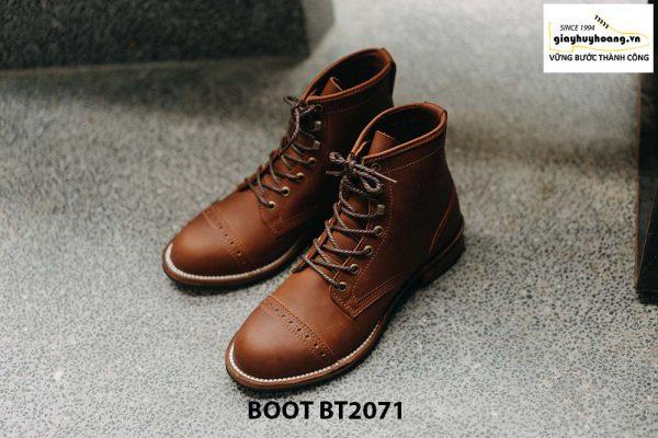 Giày da nam buộc dây cổ cao phong cách BT2071 001