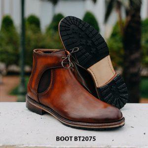 Giày da nam Boot buộc dây thời trang BT2075 003