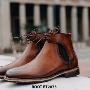 Giày da nam Boot buộc dây thời trang BT2075 001