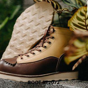 Giày da nam buộc dây boot thiết kế mới BT2072 005