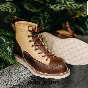 Giày da nam buộc dây boot thiết kế mới BT2072 004