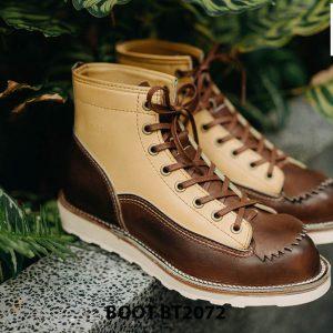 Giày da nam buộc dây boot thiết kế mới BT2072 002