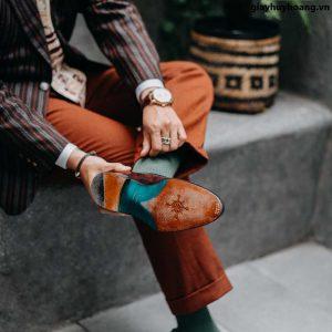 Giày lười nam hai khoá chính hãng Penny Loafer LF2056 004
