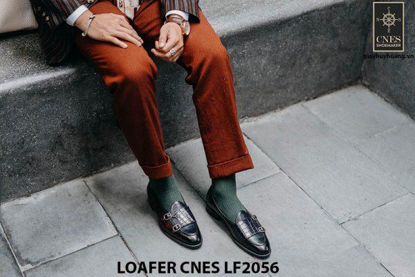 Giày lười nam hai khoá chính hãng Penny Loafer LF2056 001