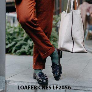Giày lười nam hai khoá chính hãng Penny Loafer LF2056 003