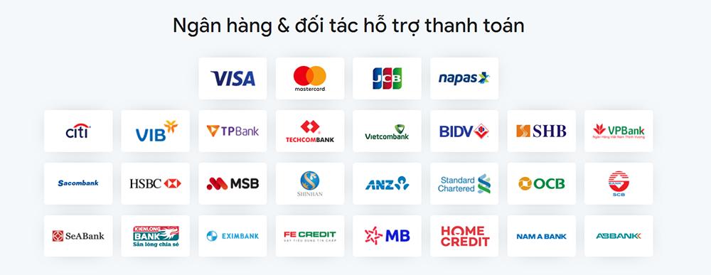 Đối tác ngân hàng hỗ trợ trả góp tại giayhuyhoang.vn