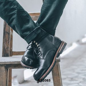 Giày da Boot nam cực đẹp đen trẻ trung BT2085 001