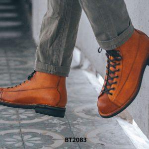 Giày da Boot nam cổ cao cột dây trẻ trung BT2083 005