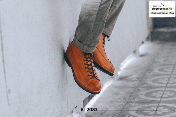 Giày da Boot nam cổ cao cột dây trẻ trung BT2083 004