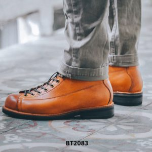 Giày da Boot nam cổ cao cột dây trẻ trung BT2083 003