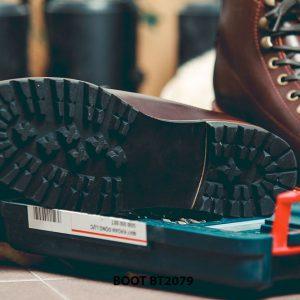 Giày da nam Boot buộc dây chính hãng BT2079 005