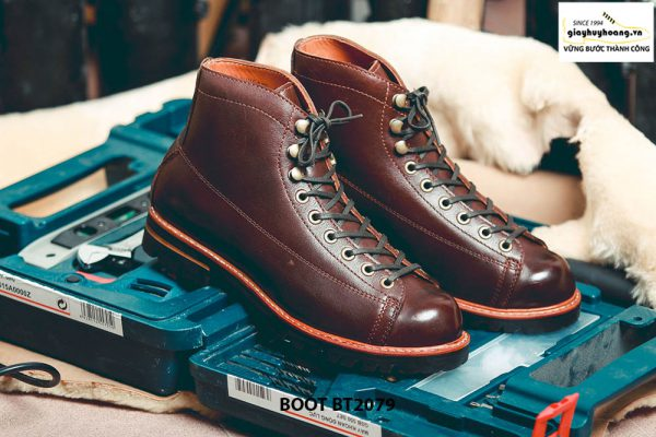 Giày da nam Boot buộc dây chính hãng BT2079 001