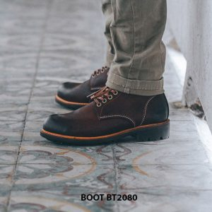 Giày nam Boot cột dây thời trang cao cấp BT2080 001
