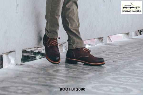 Giày nam Boot cột dây thời trang cao cấp BT2080 005
