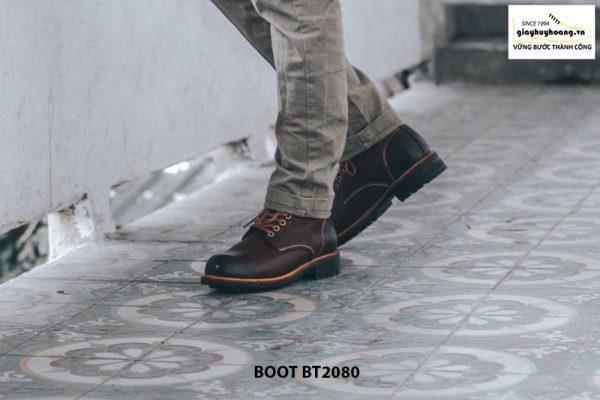 Giày nam Boot cột dây thời trang cao cấp BT2080 003