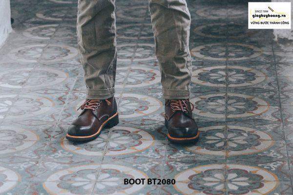 Giày nam Boot cột dây thời trang cao cấp BT2080 002